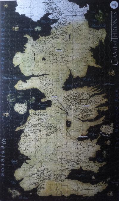 Layer 1 des Game of Thrones Puzzle