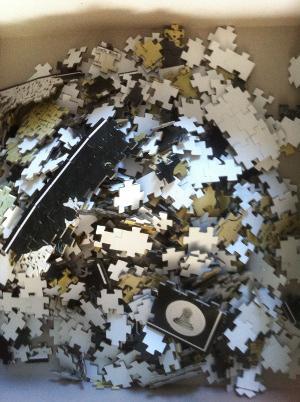 Game of Thrones Puzzle in Einzelteilen