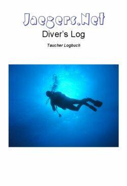 Deckblatt des Jaegers.Net Diver's Log - Taucher Logbuch in der ersten Version