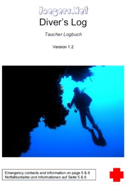 Jaegers.Net Diver's Log - Taucher Logbuch Version 1.2
