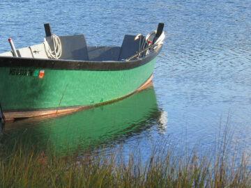 Boot am Fluss