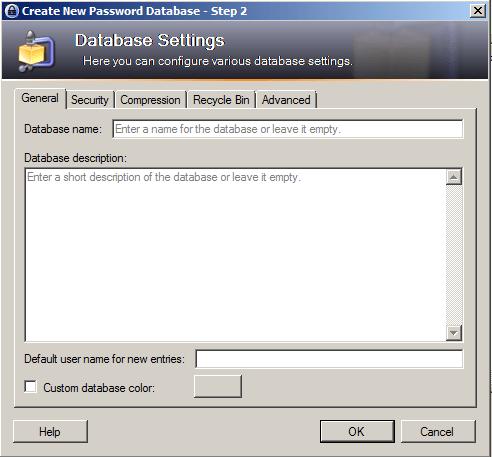 KeePass Database Settings