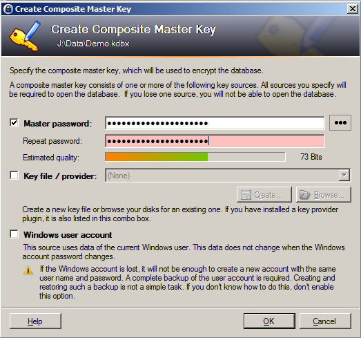 KeePass Master Password
