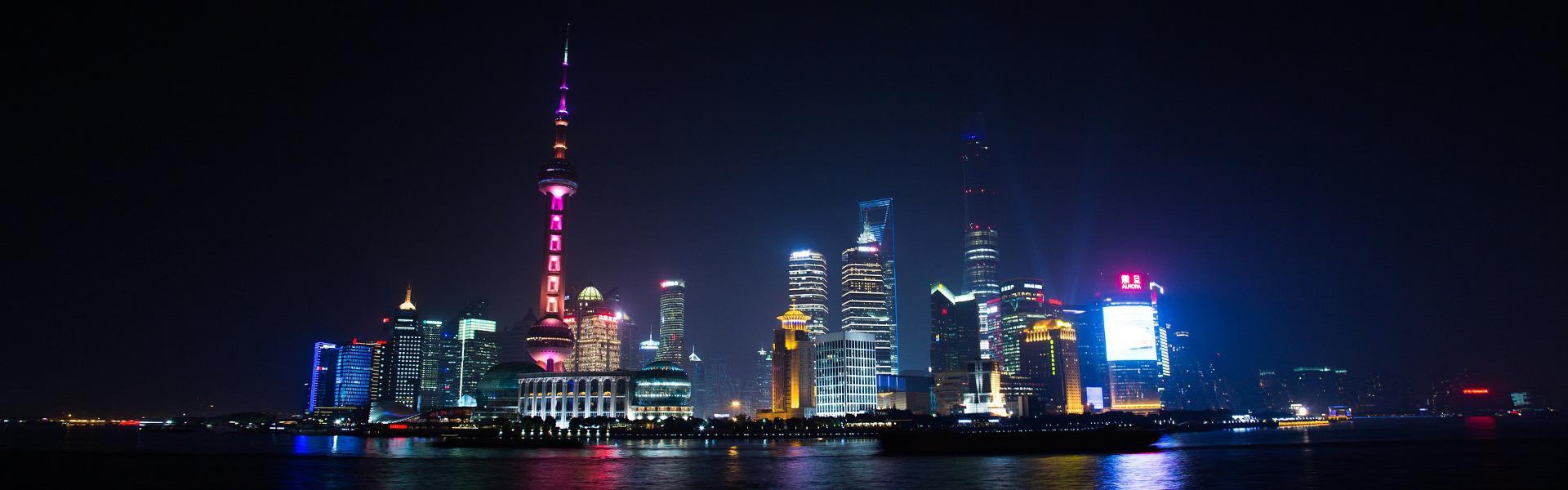 Shanghai in der Nacht